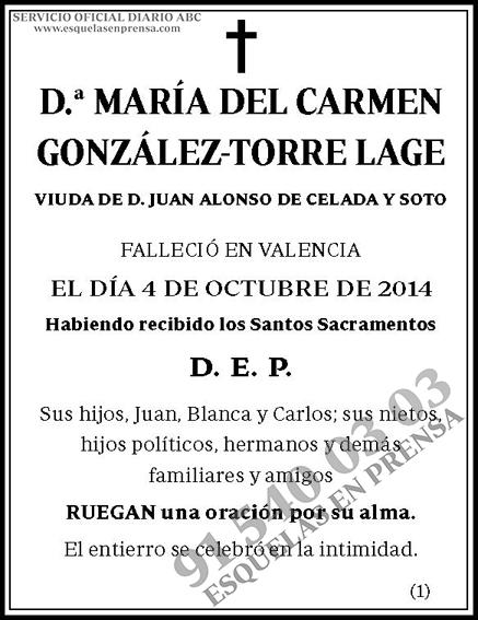 María del Carmen González-Torre Lage